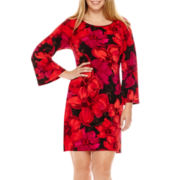 MSK Long-Sleeve Floral Print Sheath Dress - Plus
