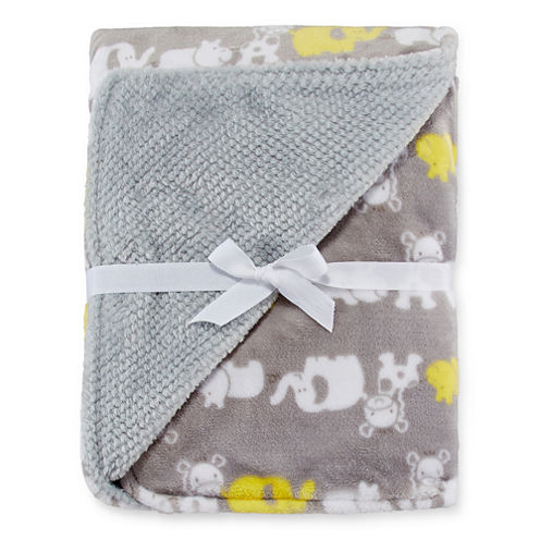 Okie Dokie® Reversible Plush Safari Blanket