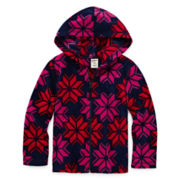 Arizona Full-Zip Polar Fleece Hoodie - Preschool Girls 4-6x