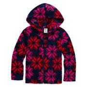 Arizona Full-Zip Polar Fleece Hoodie - Preschool Girls 4-6x