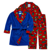 Bunz Kidz 3-pc. Robe and Pajama Set - Toddler Boys 2t-4t