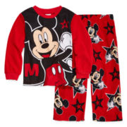 Mickey Mouse 2-pc. Fleece Pajama Set - Boys 2t-4t