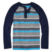 Arizona Raglan Henley Tee - Boys 8-20 and Husky