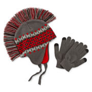 Mohawk Hat and Texting Gloves Set - Boys 8-20