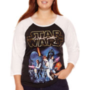 Star Wars® Raglan-Sleeve Baseball T-Shirt - Plus