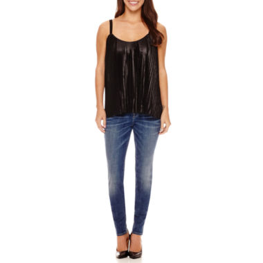 jcpenney.com | a.n.a® Pleated Tank Top or Jeggings - Petite