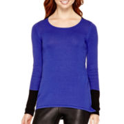 nicole by Nicole Miller ® Long-Sleeve Stitch-Detail Sweater