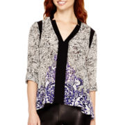 nicole by Nicole Miller® Long-Sleeve Notch-Collar Tunic Top