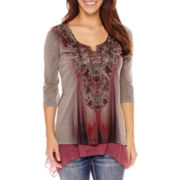 UNITY™ 3/4-Sleeve Sublimation Top - Petite