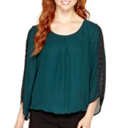 Alyx® Long-Sleeve Crochet Blouson Top