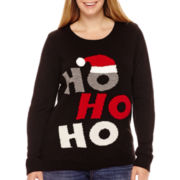 By Design Long-Sleeve Ho Ho Ho Christmas Sweater - Plus
