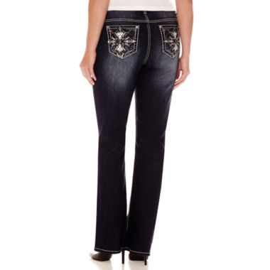 jcpenney.com | Love Indigo Bling Cross Embellished Back Pocket Jeans - Plus