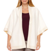 Worthington® Mixed Media Poncho - Plus
