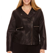 Worthington® Faux-Leather Jacket - Plus