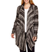 a.n.a® Long-Sleeve Textured Flyaway Cardigan Sweater - Plus