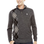 U.S. Polo Assn.® Argyle Quarter-Zip Sweater