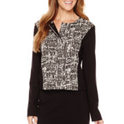 Liz Claiborne® Textured Ponte Jacket - Tall