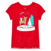 Okie Dokie® Graphic Tulle Tee - Preschool Girls 4-6x