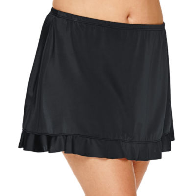 Jamaica Bay® Ruffle Hem Skirt Swim Bottoms