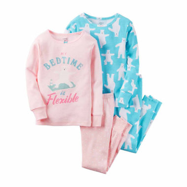 jcpenney.com | Carter's Girls Long Sleeve Kids Pajama Set-Preschool