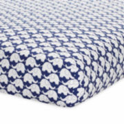 Just Born Blue Fitted Crib Sheet