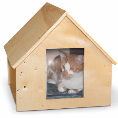 "jcpenney.com | K & H Manufacturing Birchwood Manor Unheated Kitty House Wood 18"" x 16"" x 15"""