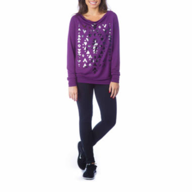 jcpenney.com | PL Movement By Pink Lotus Long Sleeve Sweatshirt or Knit Workout Pants