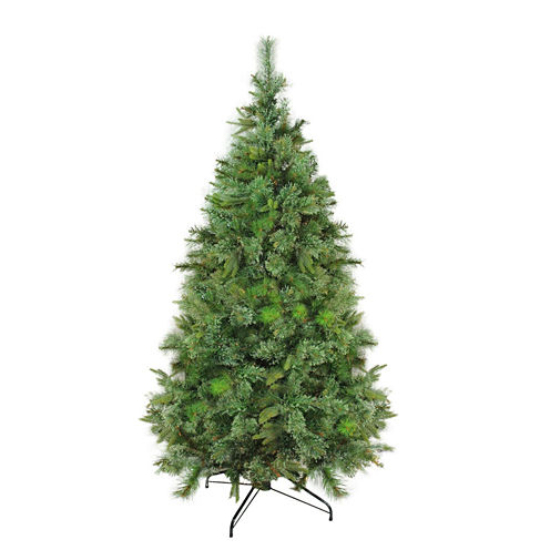 """7.5' x 55"""" Cashmere Mixed Pine Full Artificial Christmas Tree - Unlit"""""""