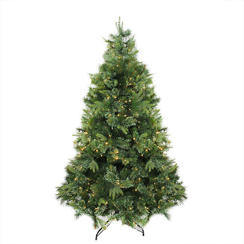 """6.5' x 49"""" Pre-Lit Cashmere Mixed Pine ArtificialChristmas Tree - Warm Clear LED Lights"""""""