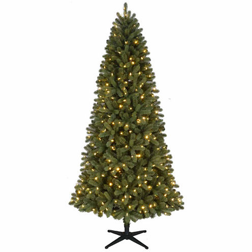North Pole Trading Co. 7 1/2 Foot Pre-Lit Green Grand Quick Set Pre-Lit Christmas Tree