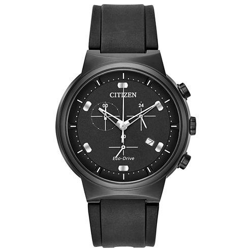 Citizen Mens Black Strap Watch-At2405-01e