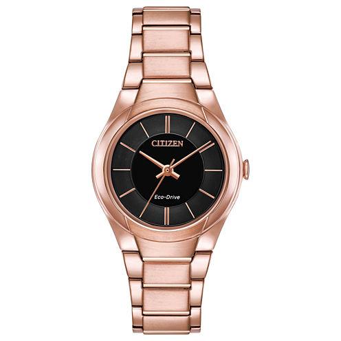 Citizen Womens Pink Strap Watch-Fe2093-54e