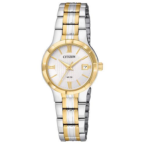 Citizen Quartz Womens Two Tone Bracelet Watch-Eu6024-59a