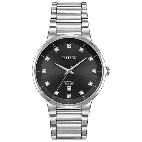 Citizen Quartz Mens Silver Tone Bracelet Watch-Bi5010-59g