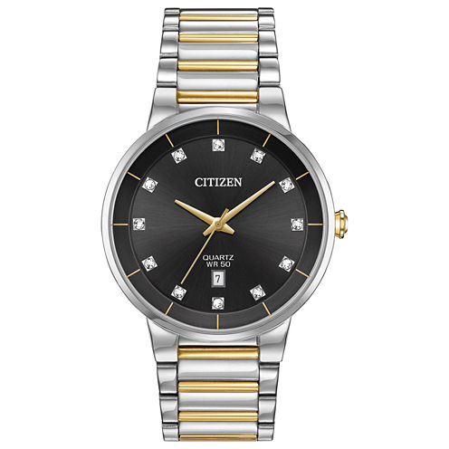 Citizen Quartz Mens Two Tone Bracelet Watch-Bi5018-57e