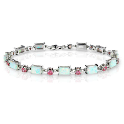 catherine bracelet silver large opal crystal op stone white popesco lv and