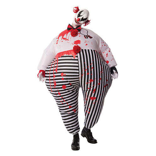 Inflatable Evil Clown 3-pc. Dress Up Costume Unisex