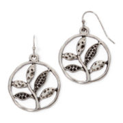Messages from the Heart® by Sandra Magsamen® Hammered Silver-Tone  Earrings