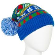 Blue Fair Isle Hat