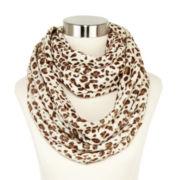 Liz Claiborne® Leopard-Print Infinity Scarf