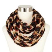 Liz Claiborne Large-Scale Leopard-Print Infinity Scarf