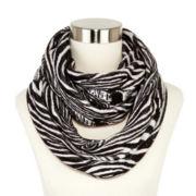 Liz Claiborne Zebra-Print Infinity Scarf
