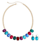 Mixit™ Gold-Tone Multicolor Earring and Necklace Set