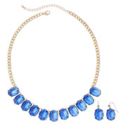 Mixit™ Gold-Tone Blue Earring and Necklace Set