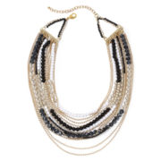 Aris by Treska Multicolor Bead Multi-Strand Necklace