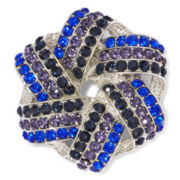 Monet® Blue and Black Stone Silver-Tone Knot Pin