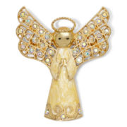 Monet® Crystal Gold-Tone Angel Pin