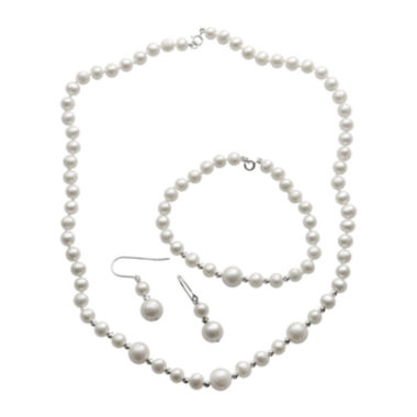 jcpenney.com | Cultured Freshwater Pearl 3-pc. Boxed Jewelry Set