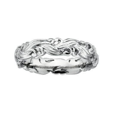 jcpenney.com | Personally Stackable Sterling Silver Scroll Stackable Ring