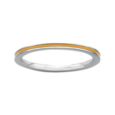 jcpenney.com | Personally Stackable Sterling Silver Orange Enamel Stackable Ring